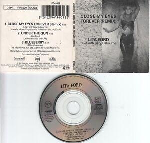 Lita Ford  & Ozzy Osbourne   CD-SINGLE  CLOSE MY EYES  FOREVER  ( Remix )  3inch