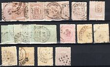 Nederland 1869 Wapenzegels NVPH 13, 15, 16, 17, 18 Lees AUB! Ruim CW €300 (135)