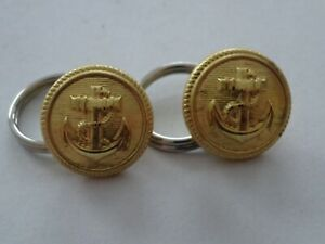 A24-15 Marine Knopf Button Bundeswehr 17mm gold Anker f. Schulterstücke