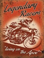 Legendary Racers Retro Motorbike Motorcycle Vintage Garage Small Metal/Tin Sign