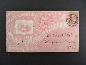 Massachusetts: Boston 1860 #26 Martin Sewing Machine Exchange Advertising Cover