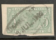 Queen Victoria - 5s Green -  Judicature Fees - on Paper