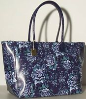 Borsa donna in vera pelle a mano e spalla fiori floreale blu Made in Italy 1526