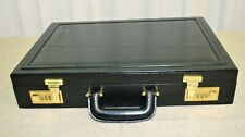 Attaché case mallette porte documents neuf cuir noir vintage 70/80 deadstock NOS