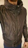 All Saints Black Waterproof Jacket Medium Wetlook Poss Gay Int Glanz