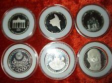 BRD 6 x 10 Mark Gedenkmünzen-Silber- Deutsche Mark PP in Kapseln