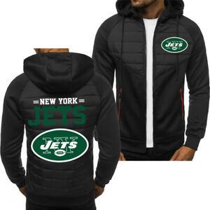 New York Jets Hoodie Classic Autumn Hooded Sweatshirt Jacket Coat Top Tops