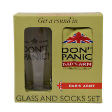 Dad's Army Don't Panic Glass & Socks Gift Set in Box Christmas Gift Ideas