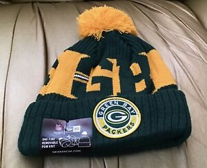 2020 New Era NFL Green Bay PackersCOLD WEATHER SPORT KNIT Beanie .