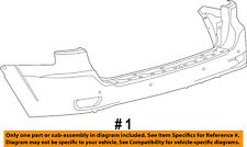 Jeep CHRYSLER OEM 12-16 Grand Cherokee Rear Bumper-Cover 68302666AA