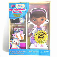 Doc McStuffins Dress Up Magnetic Wooden Doll & Playhouse 25 Clothing Pieces New