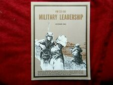 1983 Fm 22-100 Military Leadership Depart of the Army Field M anual#294Dd