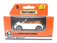 Matchbox MBX Superfast 2000 No 61 VW Volkswagen New Beetle Convertible white