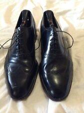 FLORSHEIM Black Leather Wingtips MENS 11D Dress Shoes Lace Up *