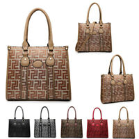 Ladies Designer Geometric Handbag Multi Compartment Shoulder Bag Tote MA36562