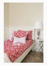 New Listing5 Pc. Beddy's Bedding Twin Minky Retro Ruby P/case, 2 diff. Shams, Dec. Pillow