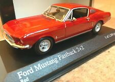 Minichamps Ford Mustang 2+2 Fastback 1968 Red 1/43 RARE Special Edition 40008202