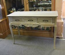 FRENCH LOUIS XV STYLE SHABBY CHIC 3 DRAWER SIDE TABLE