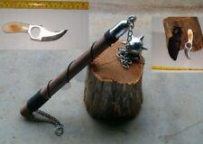 1 Ball Battle Mace + Bone Handle Skinning Knife ,Viking,Dragon, Free Shipping