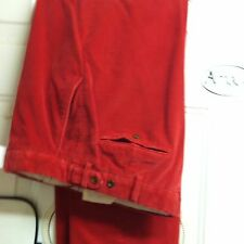 "POLO RED CORDS 34X-30""- 100% COTTON"