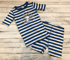 Hanna Andersson Blue Stripe Snoopy 4th Of July Pajamas Short Johns 140 Cm 10 Y