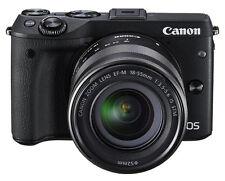 Canon EOS M3 24.2MP Digitalkamera - Schwarz (Kit m/ EF-M 18-55mm f/3.5-5.6 IS ST