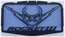 """cache / Grille de radiateur noir mat Triumph Rocket3 """"Totenkopf"""" + grillage bleu"""