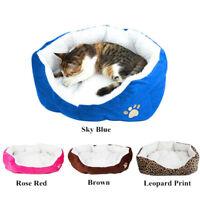 Small Medium Dog Cat Bed House Soft Warm Fleece Cozy Cushion Pet Nest Cotton Mat