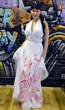 NWT Beautiful white w red flowers wedding, sweet 16 or prom dress size small