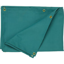 Hard Wearing Fire Retardant Canvas Welding Curtain Eyelets To All Edges Green
