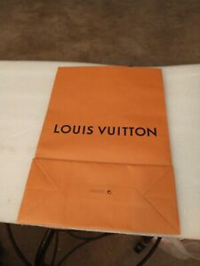 "LV Orage Gift Shopping PAPER  Bag w/Blue Cloth Straps  9.7""x14""x4.4"" GOOD"