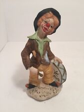"Beautiful Large Ceramic Clown Doll (7.5"") - Excellent! Kn Club Drum"