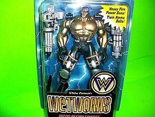 Vtg Wetworks DOZER Action Figure McFarlane Toys Bio Clip Trading Card Guns 1995