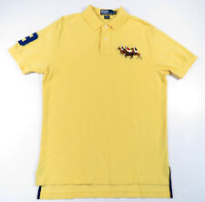 Polo Ralph Lauren Amarillo Azul Multicolor Pony #3 de Manga Corta Camiseta Rugby