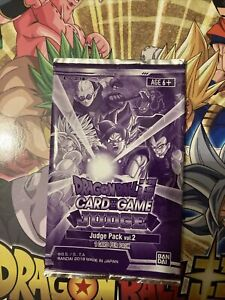 Rare Dragon Ball Super Judge Pack vol. 2  Sealed New English