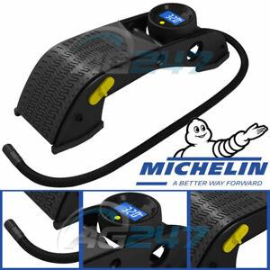 MICHELIN 12201 Digital Single Barrel Car Motorbike Cycle Tyre Infaltor Foot Pump