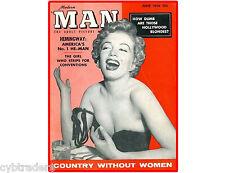 1956 Man Magazine Cover Marilyn Monroe Refrigerator / Tool Box  Magnet