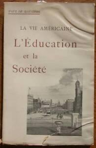 Rousiers Vie américaine Education et Société  Moeurs