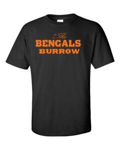 "Joe Burrow ""The Bengals Burrow"" Cincinnati Bengals T Shirt Brand New"
