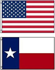 3' X 5' 3x5 State of Texas Flag + 3x5 USA American Stars Stripes WHOLESALE LOT