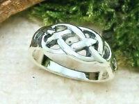 Keltischer Knoten Sterling Silber Ring 925 Keltenschmuck