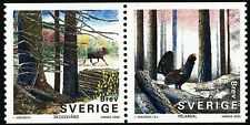 Sweden 2000 SX-pair The forest; elk, moose, capercaillie.  MNH