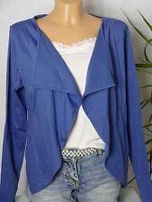 Zalando Zipfel Shirtjacke Gr. 40 kurz royal-blau Strickjacke/Cardigan