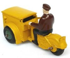 Mint  Dinky Toys 14A TRIPORTEUR, ORIGINAL1950,Yellow, Brown Rider, Green hubs