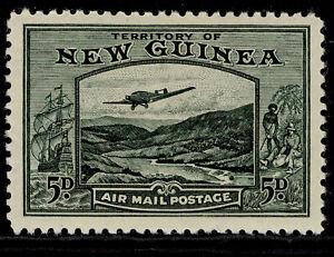AUSTRALIA - New Guinea GVI SG218, 5d deep green, LH MINT. Cat £14.