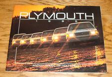 Original 1985 Plymouth Full Line Deluxe Sales Brochure 85 Turismo Gran Fury