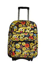 "F16EM30569 EMOJI Emojination Large Custom N Handle Rolling Backpack 16""x13""x7"""