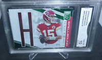 2019 Donruss Elite Patrick Mahomes Spellbound H Card #SP3 GMA Graded Gem Mint 10