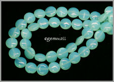"15"" Blue Opalite Flat Round Coin Beads 10mm #60026"