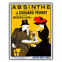 ABSINTHE French ADVERTISING METAL SIGN WALL PLAQUE Retro Print poster
